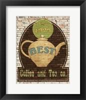 Best Coffee and Tea Framed Print
