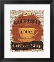 Framed Wonderful Coffee Shop