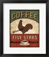 Framed Coffee Blend Label III