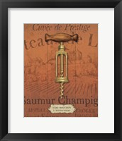 Framed Antique Corkscrew II Red