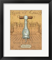 Framed Antique Corkscrew IV Yellow