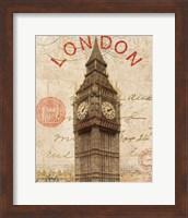 Framed Letter from London