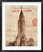 Framed Letter from New York