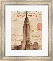 Framed Letter from New York