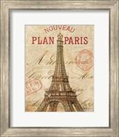 Framed Letter from Paris
