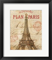 Framed Letter from Paris