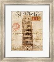 Framed Letter from Pisa