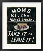 Framed Mom's Kitchen