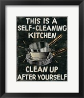 Framed Self Cleaning Kitchen