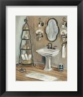 French Bath I Framed Print