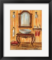 Framed Tuscan Bath II