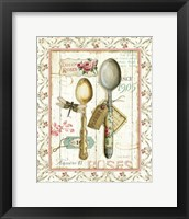 Framed Rose Garden Utensils II
