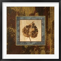 Framed Autumn Leaf Square I