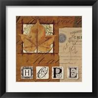 Natures Journal - Hope Framed Print