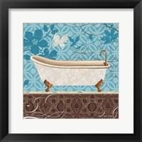 Eco Motif Bath I Framed Print