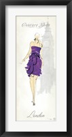 Framed Fashion Lady III