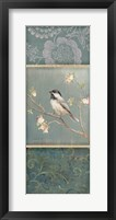 Framed Black Capped Chickadee