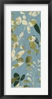 Leaves on Blue II Framed Print