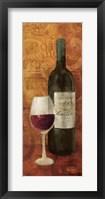 Vin Rouge Panel I Framed Print