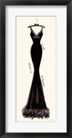 Framed Couture Noir Original I