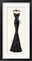 Couture Noir Original IV Framed Print