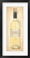 Grand Cru Blanc Bottle Framed Print