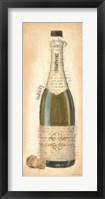 Bubbly Champagne Bottle Framed Print