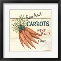 Framed Farm Fresh Carrots