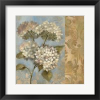 Framed Hydrangea on Soft Blue