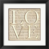 Framed L is for Love
