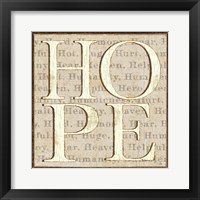 Framed H is for Hope