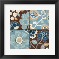 Framed Patchwork Motif Blue II