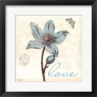 Framed Touch of Blue IV - Love