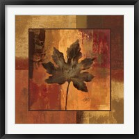 Framed October Leaf I