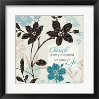Framed Botanical Touch Quote I