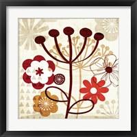 Framed Floral Pop III