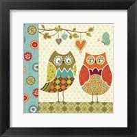 Framed Owl Wonderful I