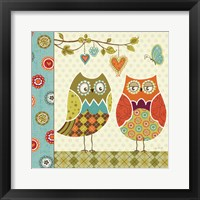 Framed Owl Wonderful I