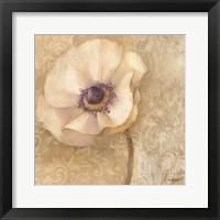 Framed Brocade Poppy
