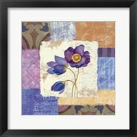 Tiled Poppies I - Purple Framed Print