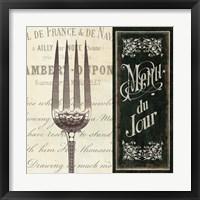 Framed French Menu II