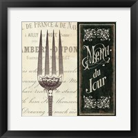 Framed French Menu II