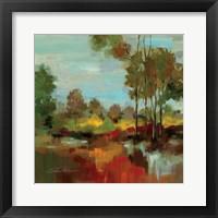 Framed Hidden Pond Hues II