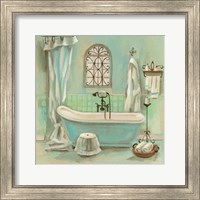 Framed Glass Tile Bath I