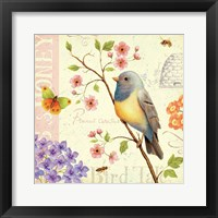 Framed Birds and Bees I