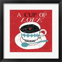 Vintage Desktop - Coffee Framed Print