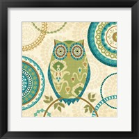 Framed Owl Forest I