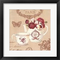 Parisian Flowers II Framed Print