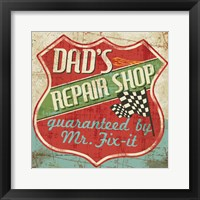 Framed Mancave IV - Dads Repair Shop