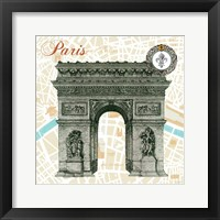 Framed Monuments des Paris Arc